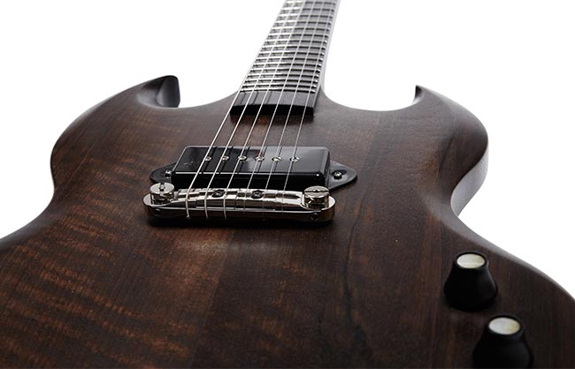 Détail Guitare Eddy Gillon Brow G